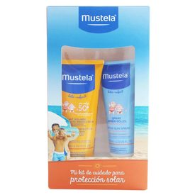 Mustela Bebé Kit Protector Solar en Loción FPS50 De 200Ml+Spray Hidratante De 125Ml