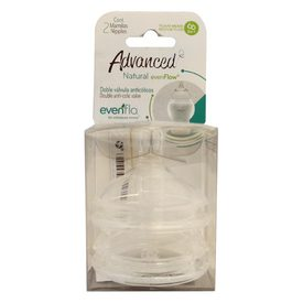 Evenflo Advanced Doble Válvula Anticólicos 2 Mamilas Rounded Bold Nipples