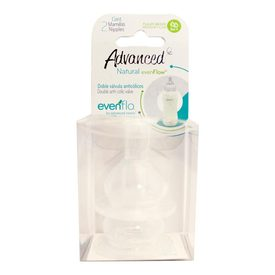 Evenflo Advanced Natural Doble válvula Anticólicos Mamila Flujo Medio 3M+