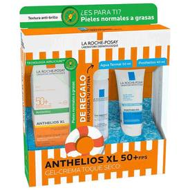 La Roche Posay anthelios XL  FPS50+ Gel-Crema Toque Seco 50ML+ Agua  Termal 50Ml+ Posthelios 40Ml