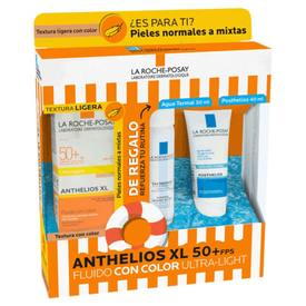 La Roche Posay anthelios XL FPS50+ Fluido con Color Ultra Light + Agua Termal 50Ml+Posthelios 40Ml