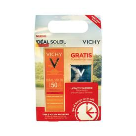Vichy ideal soleil Protector Solar Triple Acción 50ml FPS50 +Liftactiv Supreme Crema Antiedad 15Ml