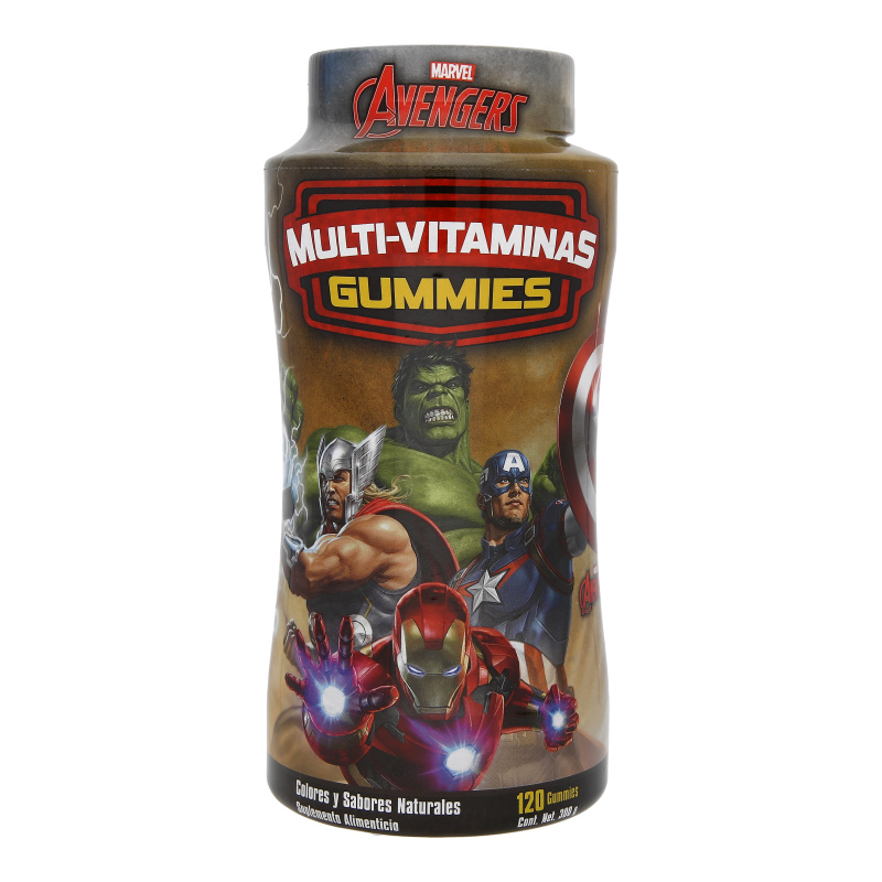 Gummies Multi-Vitaminas Marvel Avengers