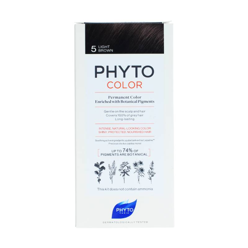 Phyto Color Tinte con Pigmentos Vegetales Tono #5 Light Brown