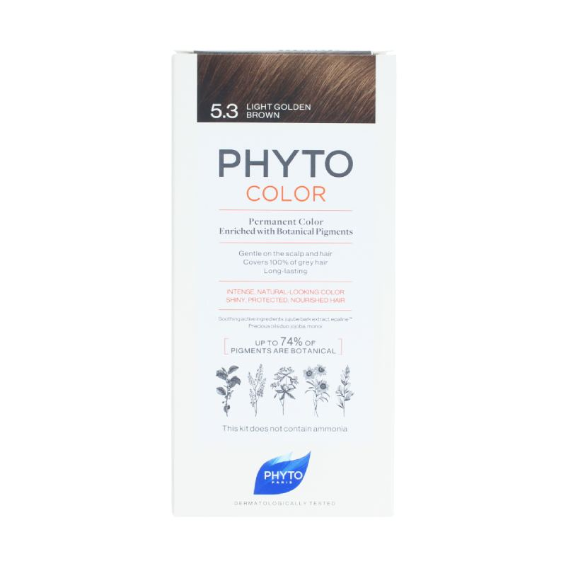 Phyto Color Tinte con Pigmentos Naturales Tono #5.3 Light Golden Brown
